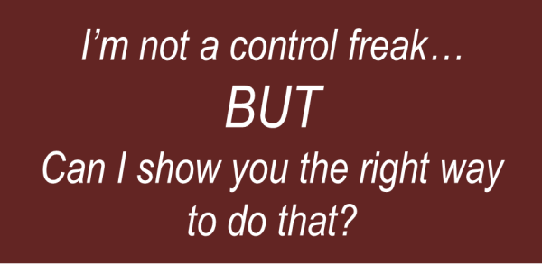 Why Christianity is Tough for Control Freaks